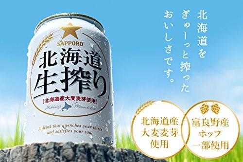 サッポロ 北海道生搾り 350ml×24本
