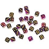 B Baosity 約30個 6面 ダイス 骰子 テーブルゲーム用 全7スタイル - パープル+ブラック