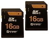 Nikon Coolpix aw120デジタルカメラメモリカード2x 16GB安全デジタル高容量SDHCメモリカード2パック