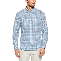 TOMMY HILFIGER Men's Multi Check Regular Fit Shirt, Vivid Blue/Multi