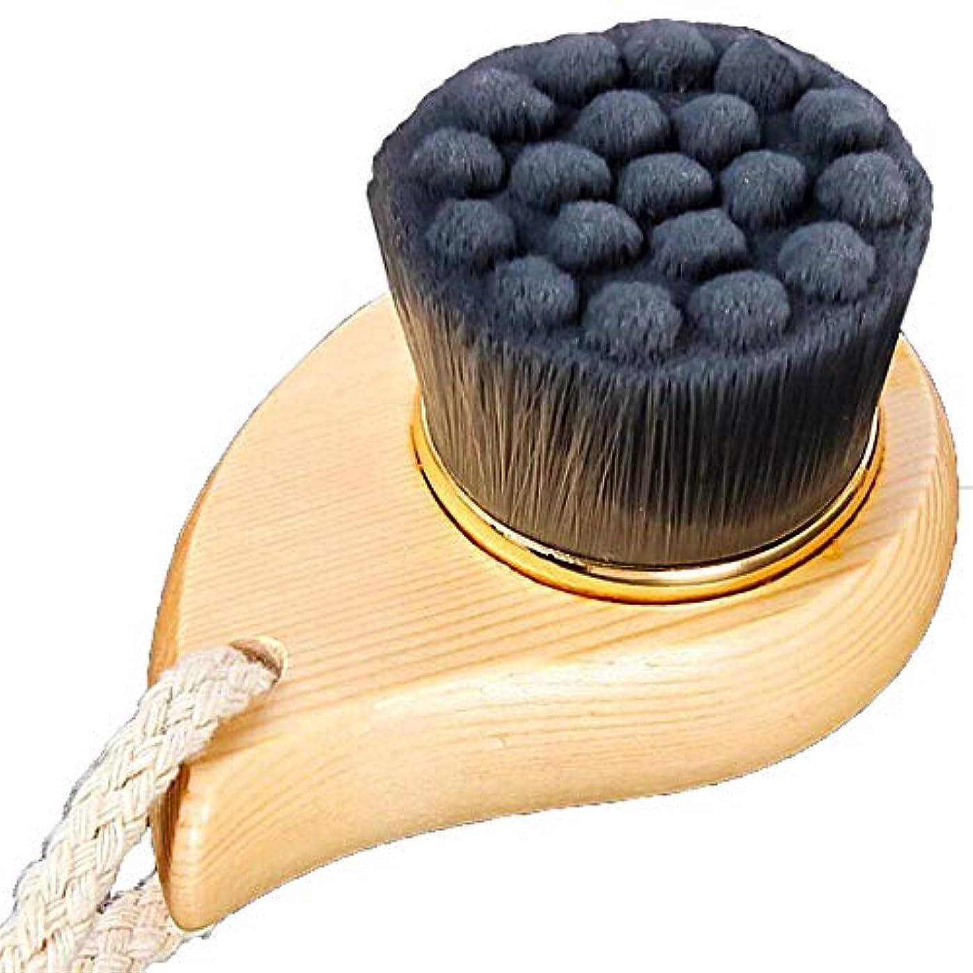 三角テザーゆでる洗顔ブラシ 深い毛穴のための柔らかい剛毛の表面クリーニングの美のブラシの清潔になることの美顔術のブラシ ディープクレンジングスキンケア用