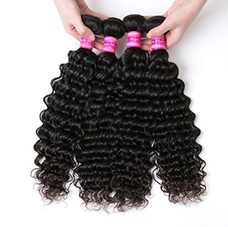 ボス行列エイズ150%密度未処理ブラジルディープカーリーヘアバンドル本物の人間の髪の毛の束バージンブラジル髪