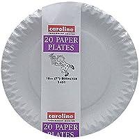 (キャロライン) Caroline ホワイト ペーパープレート 紙皿 バーベキュー パーティー アウトドア 18cm (240枚組) (18cm) (ホワイト)