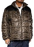 光発熱素材 切替デザイン 中綿ジャケット 大きいサイズ 2L 3L 4L 5L XL XXL XXXL XXXXL キングサイズ メンズ 4L ブラウン