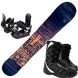 ツマ(ZUMA) 3点セット スノーボード TYPOS 金具付き ブーツ付き (オレンジ153cm, ブーツ27cm) ワックス施工付き