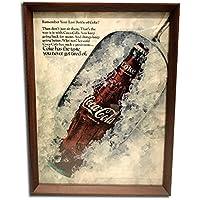 コカ・コーラ アイス 1960年代 ビンテージ広告 ポスター アートフレーム 額付
