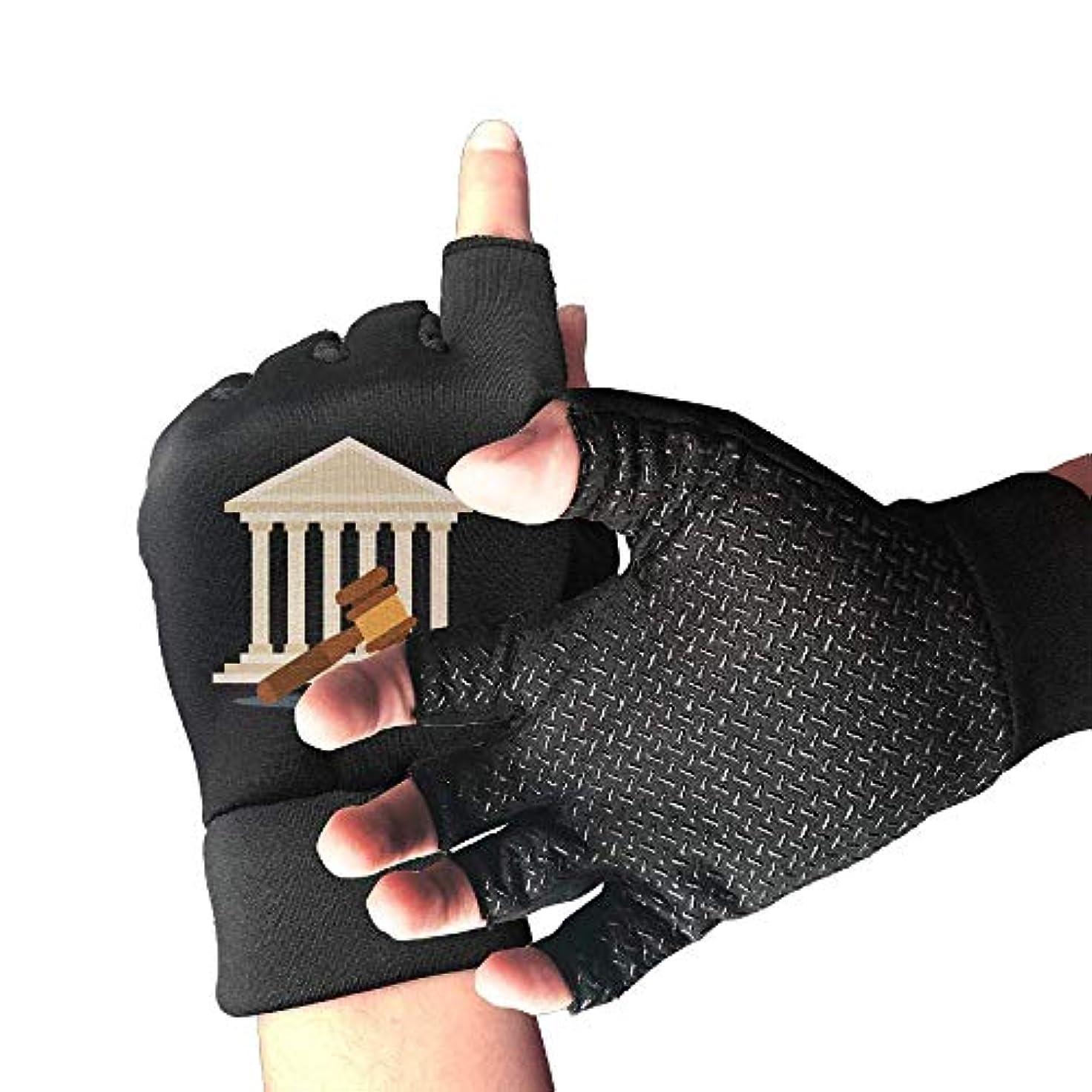 軍隊ジャンプ特権的Cycling Gloves It is Law Men's/Women's Mountain Bike Gloves Half Finger Anti-Slip Motorcycle Gloves