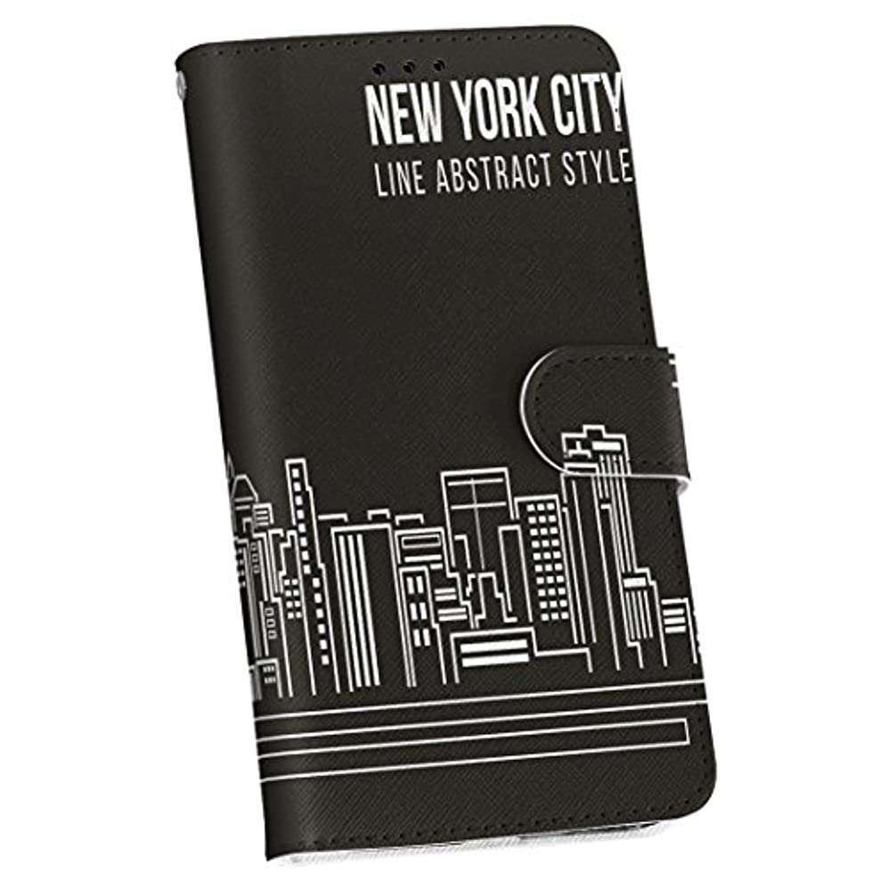 カスケードバスケットボール部分的igcase iPhone SE 2020 専用ケース カバー 手帳 iphone7 iphone8 共通対応 スマコレ 手帳型 レザー 手帳タイプ 革 スマホケース スマホカバー 011350 ニューヨーク 外国 街並み