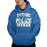 ポケット パーカー スウェットパーカー 将来 警察官 したい スウェット プルオーバー スポーツ ストレッチ ブルー S