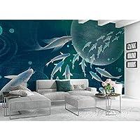 Lcymt 海の壁紙の3Dの魚壁画の壁の印刷物のステッカーの壁の壁画-400X280Cm