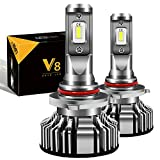 【最新型 最強カットライン】LIMEY HB3 led ヘッドライト 新車検対応 車/バイク用 16000LM(8000LM*2) 50W(25W*2) PHILIPS ZESチップより明るく高輝度 新開発VLチップ搭載 12V車対応(ハイブリッド車・EV車対応) ホワイト 6500K 日本語取説&1年保証書付き 2個入 - V8HB3
