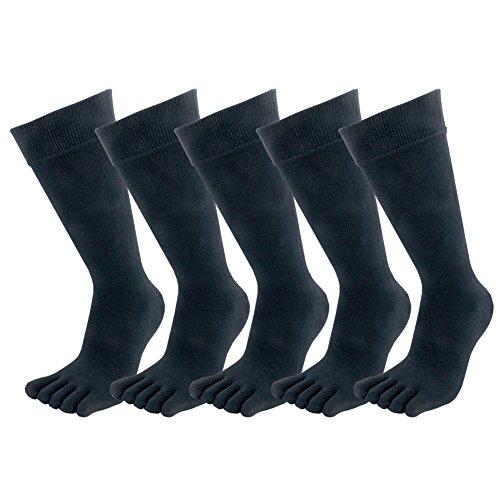 ビジネス 紳士 ソックス 5足組 強力消臭 通気性 吸汗速乾 メンズ 五本指棉ロング 靴下 ブラック 男性用