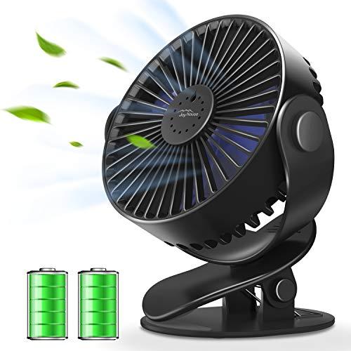 【2019最新版&アロマ機能搭載】usb扇風機 卓上扇風機 クリップ 4000mAh長時間連続使用 充電式 usbファン 大風量三段階調節 超静音 360度角度調整 熱中症対策 (ブラック)