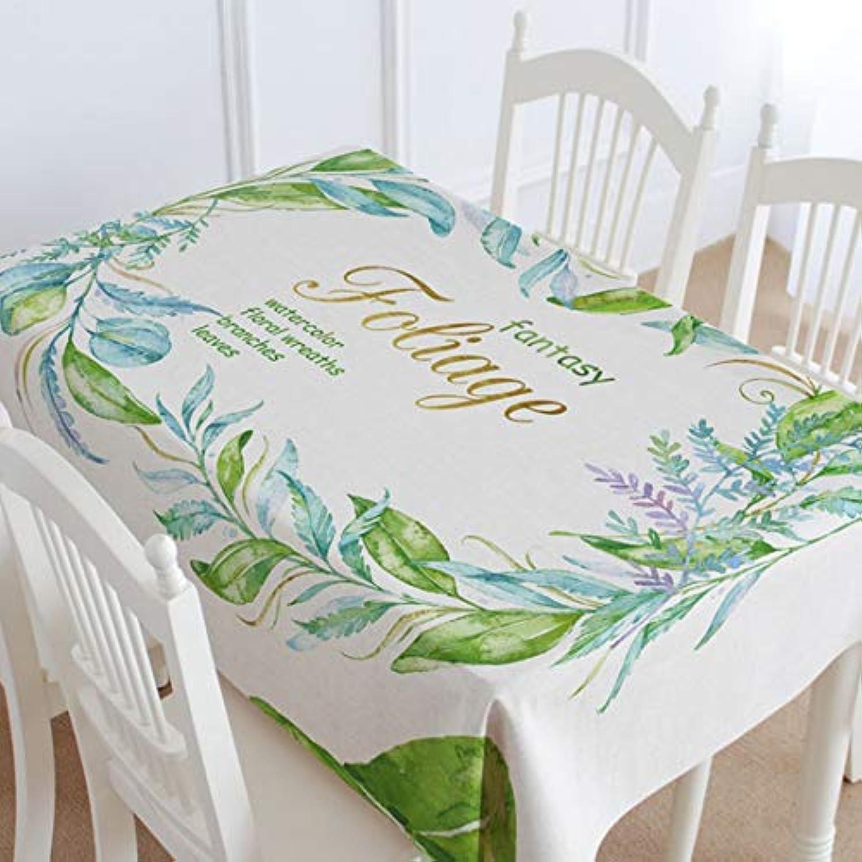 YIJUPIN 綿のテーブルクロスレモンの長方形のテーブルカバークリップ家族ディナー (色 : T4)