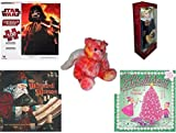 Girl's Gift Bundle - Ages 6-12 [5 Piece] - Star Wars The Clone Wars Lenticular Puzzle 100 Piece - Century Collection Porcelain Doll 16