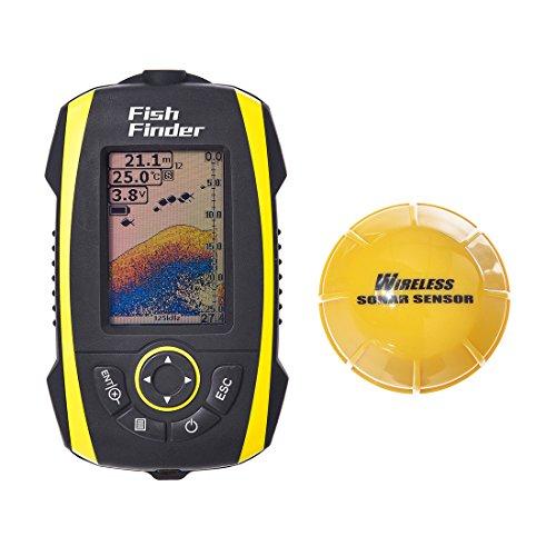 FishingSir アルタイムソナー ポータブル 魚群探知機 / 屋外釣りツール、魚群検出 IP67防水--内蔵リチウム電池!