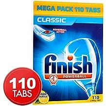 Finish Powerball Dishwashing Tabs Classic Lemon Sparkle 110pk