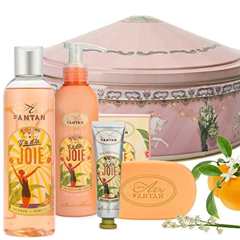 悩みサドル記事JOIE ウーマンビューティーセット (250 ml)- シャワージェル (25ml)- フラワーハンドクリーム. (200 ml) - ボディミルク-石鹸 (100g) - オレンジの花の香水、バラ - Un Air d'Antan 昨年の空気