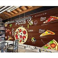 Ljjlm カスタム壁紙3Dピザの背景の壁西部レストランの壁画テレビの背景壁の壁画壁のための壁紙3D-120X100CM