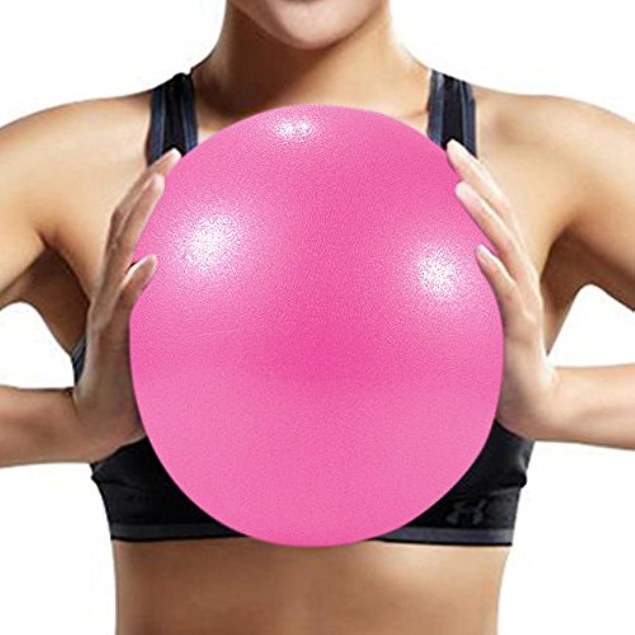 うそつき空虚着替えるRefaxi ピンクヨガマッサージボール25cmエクササイズピラティスバランス体操練習フィットネスボール