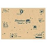 プリマミュージック オリジナル出席カード 乗り物と英語(クラフト) 10枚入り PRFG-083