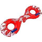 LULUFUN 浮き輪 大人用 うきわ 水遊び ライフジャケット型 8字デザイン 海 水泳用品 夏の日楽しみ レッド