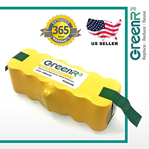greenr3iRobot Roombaバッテリー3500...
