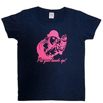 レディースTシャツ Put your hands up (size:wm(ウーマンm), メトロブルー)