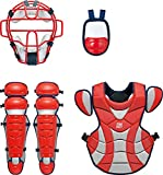 ZETT(ゼット) 野球 軟式 キャッチャー 防具4点セット BL316 レッド/ネイビー