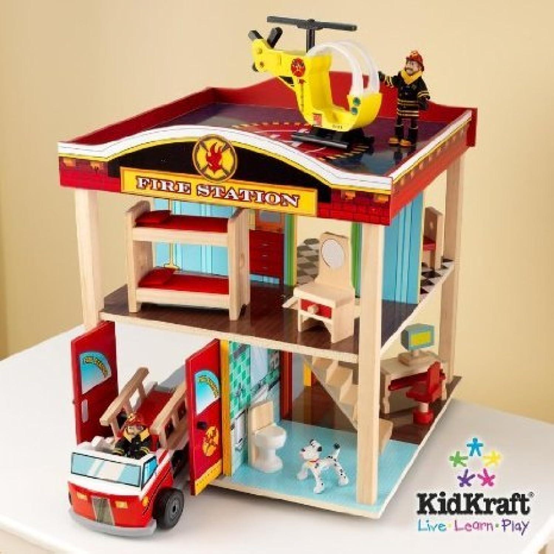 KidKraft Fire Station Kids プレイセット - 63236(並行輸入)