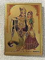 ヒンドゥー クリシュナ&ラーダ マグネット ② サイズ(約):縦8.5㎝×横6㎝
