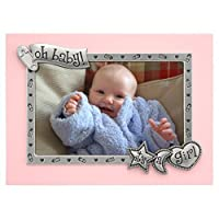 Malden International Designs It's A Girl Juvenile Pink With Silver Metal Border Picture Frame 4x6 Pink 【Creative Arts】 [並行輸入品]