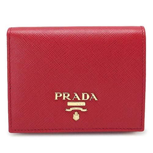 [プラダ] 折財布 二つ折り 型押しレザー フォーコ 1MV...