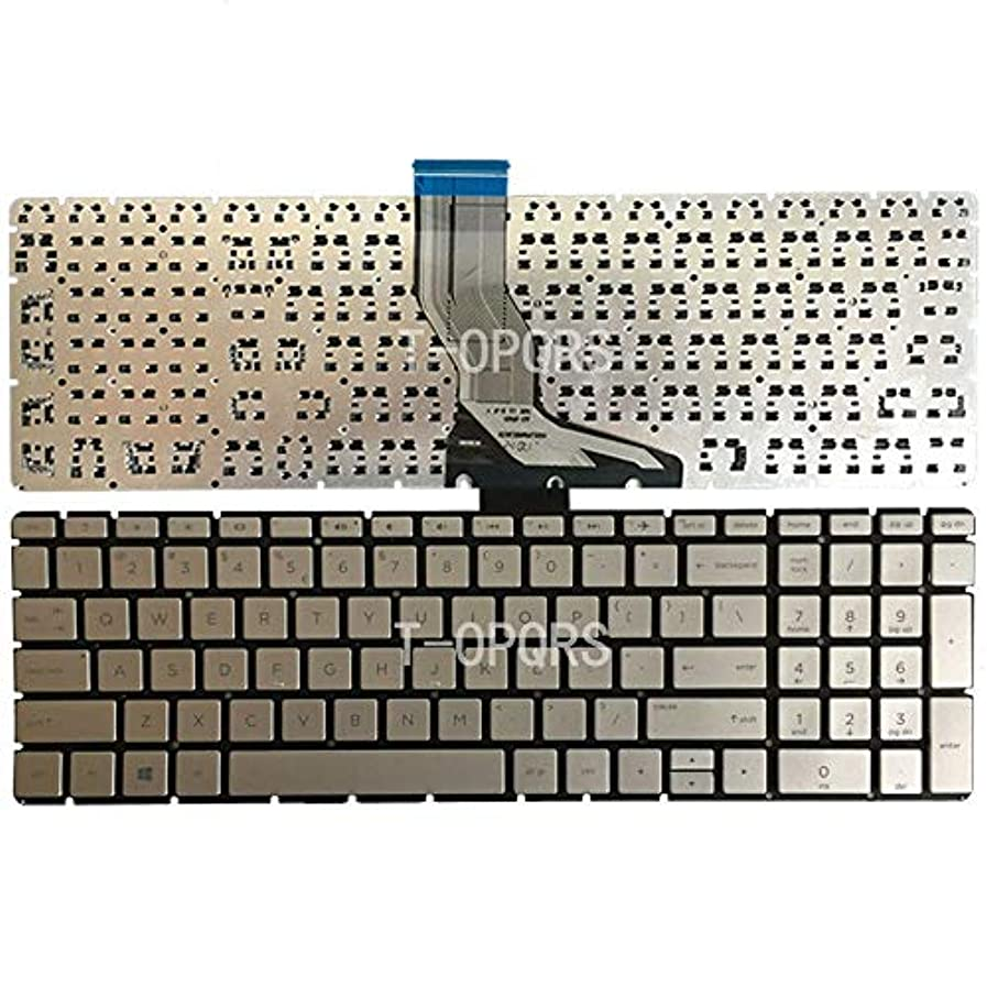 量で完璧ちょうつがいFidgetGear  HPパビリオンTPN-Q190 TPN-Q193キーボードUSシルバー用バックライトなし