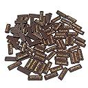 Dovewill 木製ボタン 縫製用タグ 「hand made」文字付き ラベル 手芸用品 アクセサリー 30mm 約50個 全4色選べ - 褐色