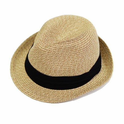 (エッジシティー)EdgeCity 折りたたみ可能 大きいサイズ メンズ 麦わら帽子 ストローハット L 61cm 000319-0071-61-
