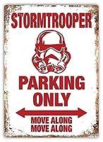 Stormtrooper Parking Only 注意看板メタル安全標識注意マー表示パネル金属板のブリキ看板情報サイントイレ公共場所駐車