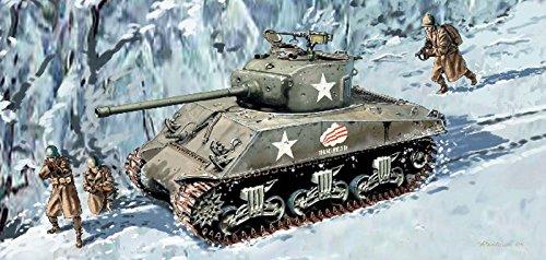 プラッツ 1/35 第二次世界大戦 アメリカ軍 M4A3 -76 W VVSS シャーマン バルジの戦い プラモデル DR6255