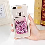 iPhone5 5S SE ケース カバー Huashine 可愛い 香水瓶 香水ボトル 着信 で 光る 多彩な流砂 スパンコール キラキラ パフューム 動く グリッター アイフォンケース 携帯ケース (iPhone 5/5S/SE, ピンク)