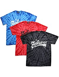 【Z18PL03】 ゼファレン Zephyren Tシャツ 半袖 かっこいい タイダイ染め スプラッシュプリント ビッグシルエット アメカジ 正規品 黒 青 赤