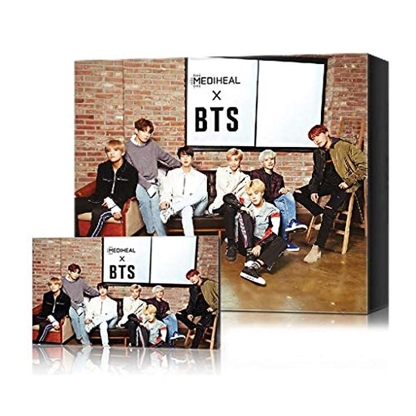 涙思いやり全国[[MEDIHEAL] [MEDIHEAL X BTS Facial Mask Sheet Special Set/Mask Sheet 10ea + BTS Photocard 14ea (02 Brightening...