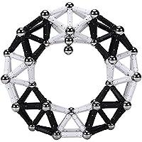 プレイ?メイティ ブラック&ホワイト 170ピース パズル ブロック 磁石 マグネット 積み木