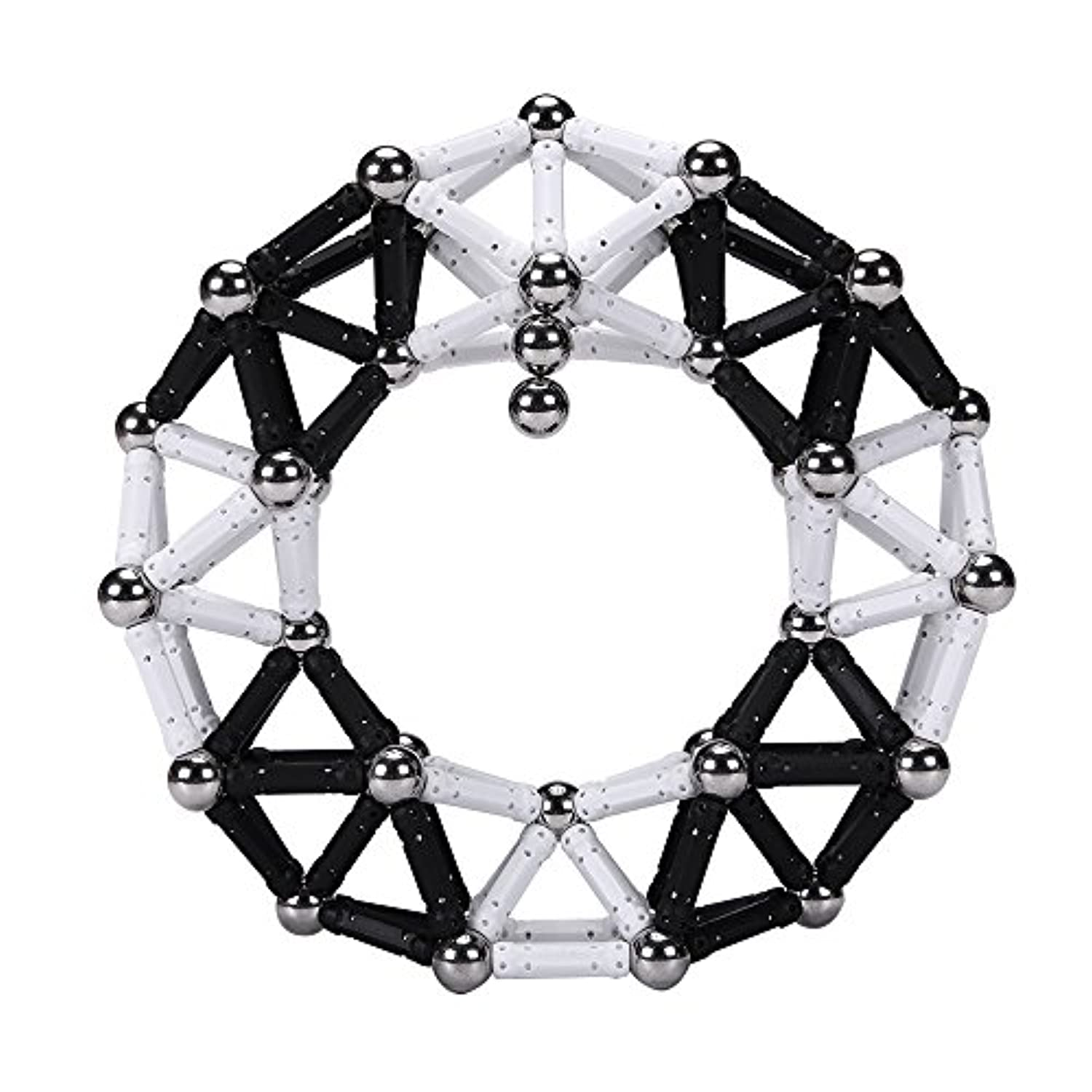 playmaty 170ピースConstruction Toys Magnetic Building BlocksセットToy withマグネットSticks for Boys and Girls Playing Stacking Game