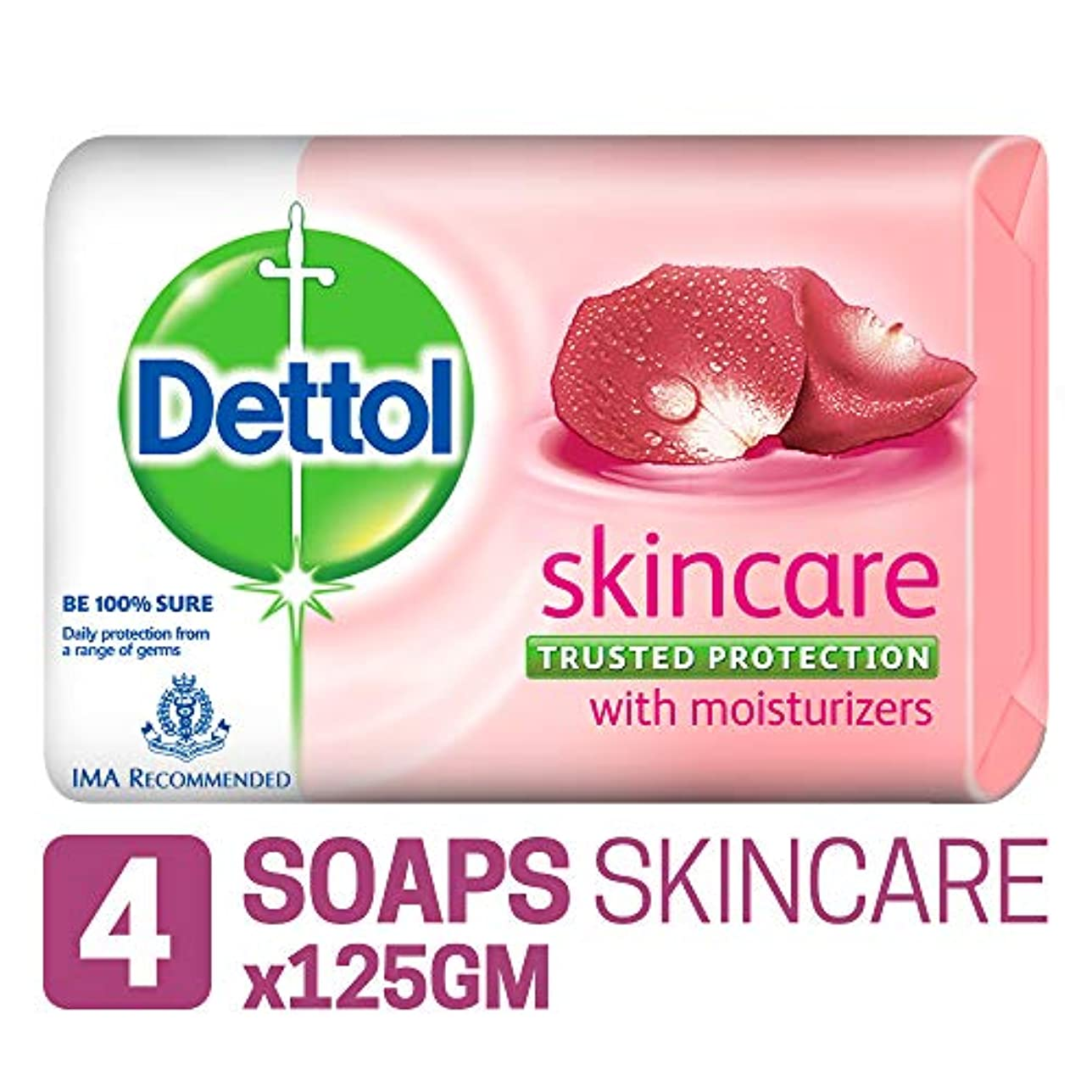 何十人も堤防無傷Dettol Skincare Soap, 125g (Pack Of 4) SHIP FROM INDIA