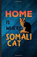 Home Is Where Somali Cat Is: Funny Blank Lined Pet Kitten Cat Notebook/ Journal, Graduation Appreciation Gratitude Thank You Souvenir Gag Gift, Fashionable Graphic 110 Pages