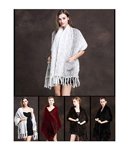 Mink fur fur stole large-format 170 × 54CM with stall weave pocket fringe ladies fur fur shawl real fur scarf fur stole wedding kimono fur shawl fur tippet large format stall wedding ceremony
