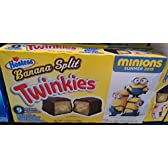 Hostess Banana Split Flavor Twinkies ホステスバナナスプリットフレーバートゥインキーズ 410g [並行輸入品]