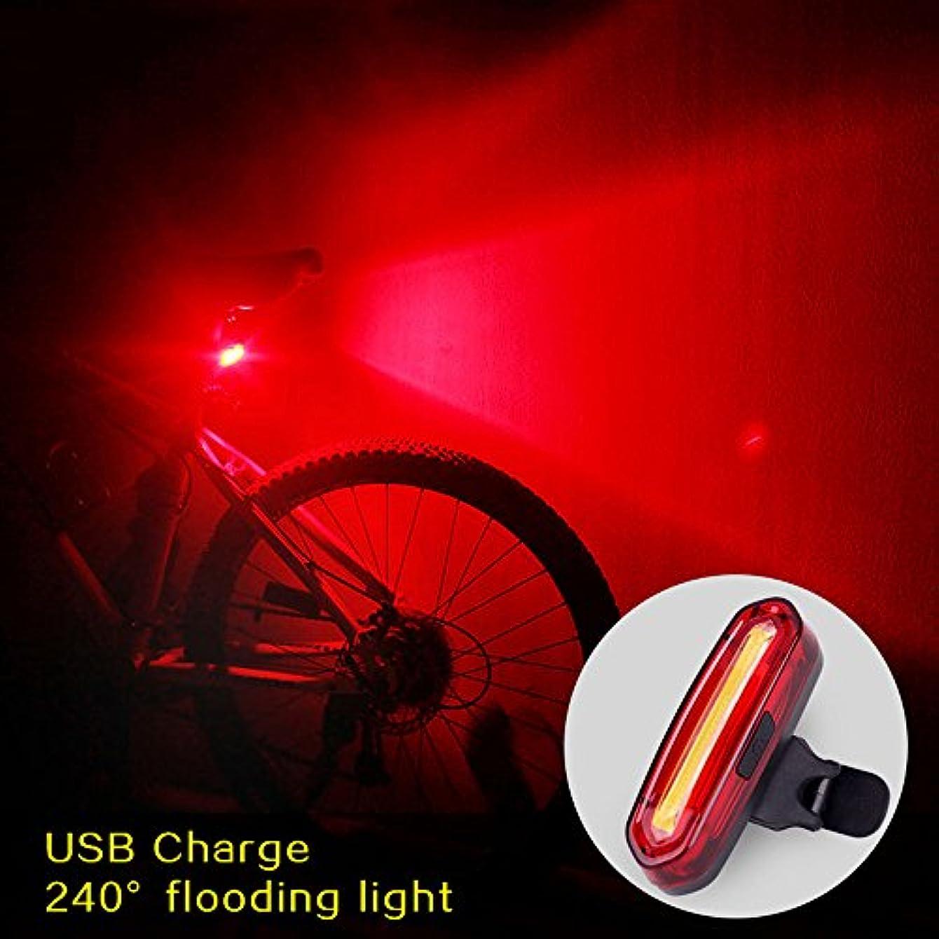 出版技術者アフリカzmart バイクテールライトCOB LED 100lm USB充電式 リアライト 自転車 マウンテン MTB ランプ