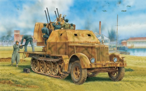 1/35 Sd.Kfz.7/1 2cm 4連装Flak 38対空自走砲 w/装甲キャブ (2in1) (スマートキット)