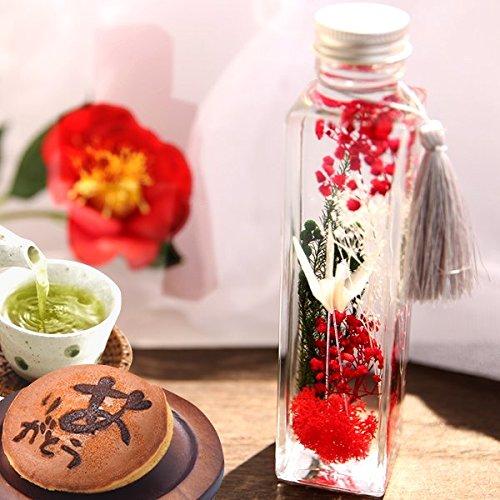 誕生日 プレゼント ハーバリウム 美鶴 花とスイーツセット (Mサイズ・白鶴)